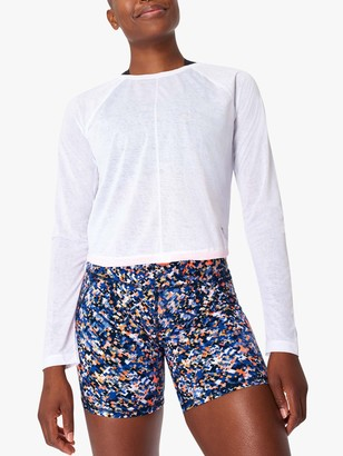 Sweaty Betty Agility Long Sleeve Gym Top, White