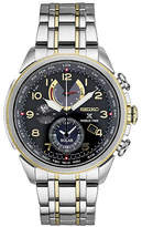 Seiko Mens Chronograph Two Tone Stainless Steel Bracelet Watch-Ssc508, One Size , No Color Family