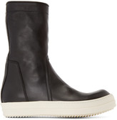 Rick Owens Black Basket Creeper High-Top Sneakers