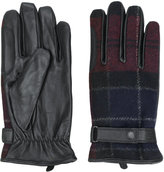 Barbour checked gloves