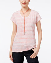 Style&Co. Style & Co Petite Cotton Printed T-Shirt, Only at Macy's