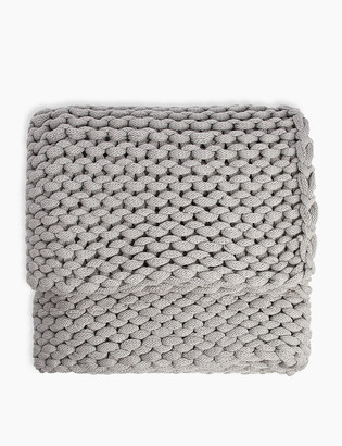 Marks and Spencer Chunky Knitted Throw