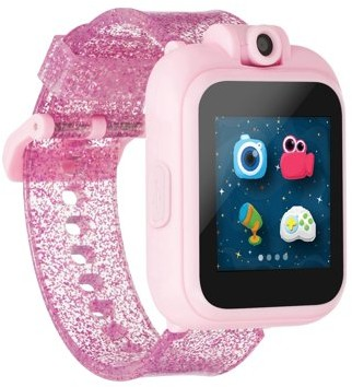 iTouch PlayZoom PlayZoom Kids Smartwatch - Selfie Camera and Video, Learning, Educational and Interactive Games, Birthday Gift for Girls and Boys (Pink Glitter, 48mm)