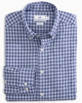 Southern Tide Wharf Heathered Gingham Button Down Shirt
