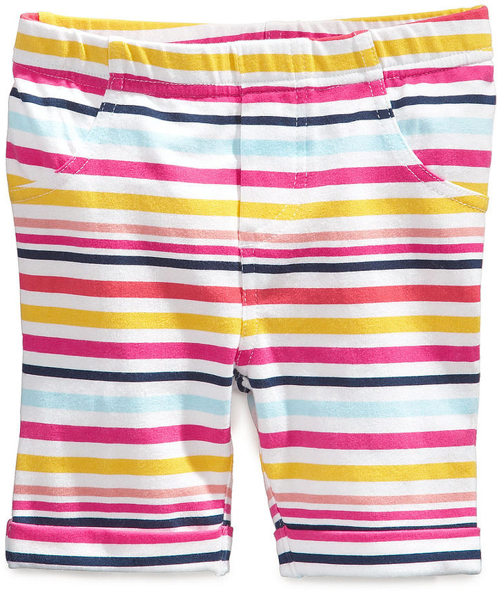 First Impressions Playwear Shorts, Baby Girls Stripe Bermuda Shorts