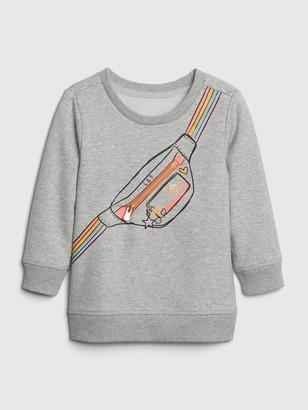 Gap Toddler 3D Graphic Crewneck Sweatshirt