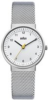 Braun Women's BN0031WHSLMHL Classic Silver-Tone Watch with Mesh Stainless Steel Bracelet