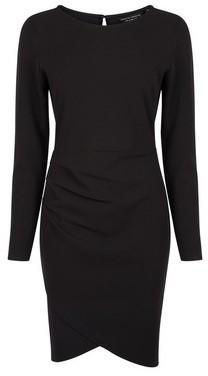 Dorothy Perkins Womens Black Wrap Skirt Bodycon Dress, Black