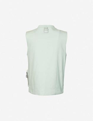 Pieces Uniques Trust mandarin-collar stretch-cotton jacket