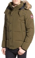 Canada Goose Men's Wyndham Slim Fit Genuine Coyote Fur Trim Down Jacket