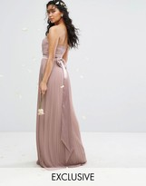 TFNC WEDDING Bandeau Maxi Dress with Bow Back Detail