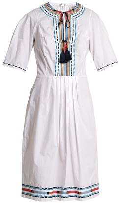 Talitha Collection Anita Embroidered Cotton Dress - Womens - White