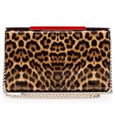 Christian Louboutin Vanité clutch Brown Patent Calfskin - Handbags