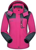 Diamond Candy Sportswear Women's Hooded Softshell Raincoat Waterproof Jacket 5 L