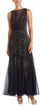 Night Way Nightway Velvet Glitter Gown
