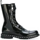 Dolce & Gabbana utility boots - women - Leather/rubber - 41