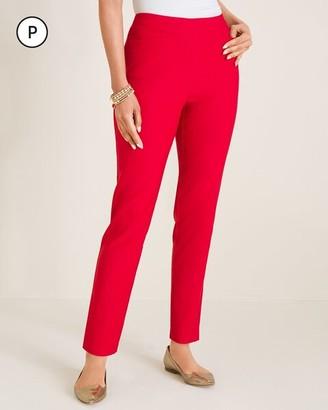 So Slimming Petite Brigitte Back-Slit Slim Ankle Pants