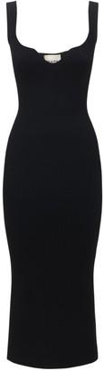 KHAITE Nina Knit Midi Dress