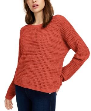 PINK ROSE Juniors' Chenille Sweater