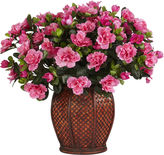 Asstd National Brand Nearly Natural Azalea Silk Plant with Vase
