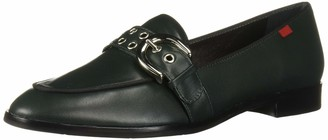 Marc Joseph New York Women's Leather Buckle Loafer with Grommet Detail