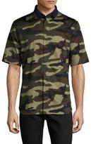 Christian Dior Camouflage Hidden Button Sportshirt