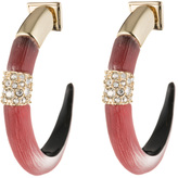 Alexis Bittar Colorblock Pave Station Hoop Earring