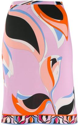 Emilio Pucci Printed Straight Skirt