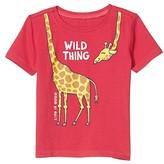 Life is Good Wild Thing Giraffe Crusher Tee (Toddler) (Sangria Red) Kid's Clothing