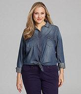Jessica Simpson Woman Haystack Camp Shirt