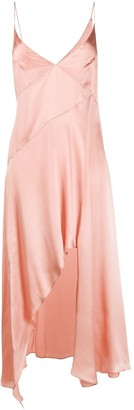 Le Kasha Asymmetric Silk Slip Dress