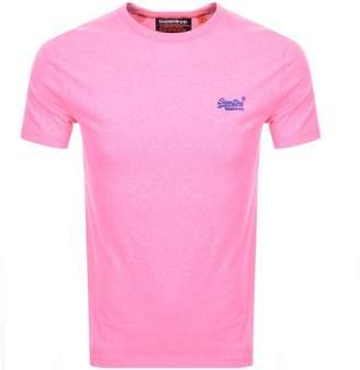 Superdry Orange Label Logo T Shirt Pink