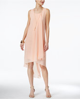 Thalia Sodi High-Low Necklace Shift Dress, Only at Macy's