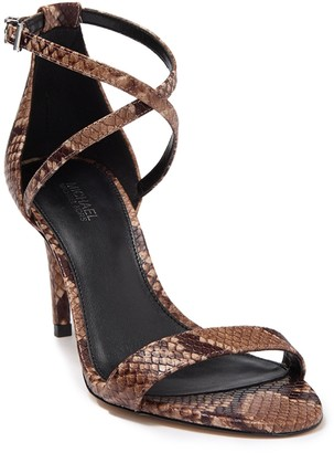 MICHAEL Michael Kors Ava Leather Stiletto Heel Sandal