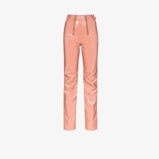 GmbH Frey double zip vinyl trousers