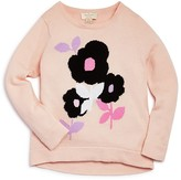 Kate Spade Girls' Floral Intarsia Sweater - Sizes 2-6