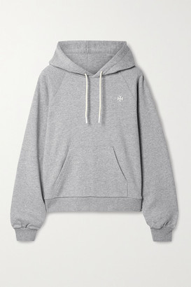 Tory Sport French Cotton-terry Hoodie - Light gray