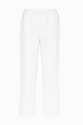 Skin - Elena Pima Cotton-jersey Pajama Pants - White