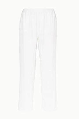 Skin Elena Pima Cotton-jersey Pajama Pants - White