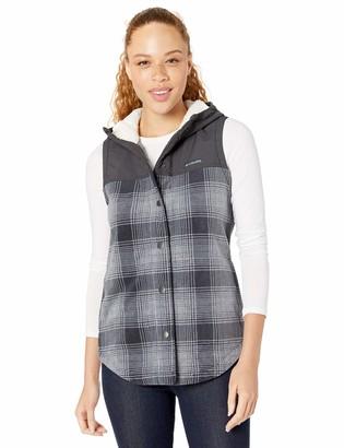 Columbia Women's Benton Springs Overlay Vest Snap Up Fleece