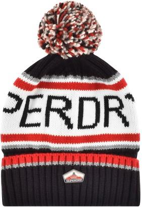 Superdry Logo Beanie Hat NAvy