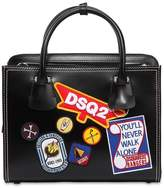 DSQUARED2 Patches Leather Top Handle Bag