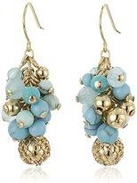 "Carolee The Blue Line"" The Blue Line Linear Cluster Pierced Drop Earrings"