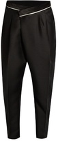 Haider Ackermann Laurel Tapered-leg Cropped Mohair Trousers
