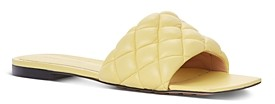 Bottega Veneta Women's Quilted Slip On Slide Sandals