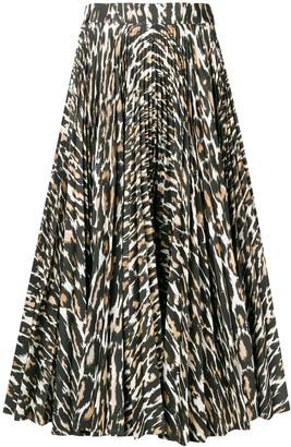 Calvin Klein Flared Leopard Print Skirt