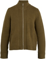 Maison Margiela Zip-through wool-blend sweater