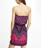 Express Purple Scarf Print Tube Dress