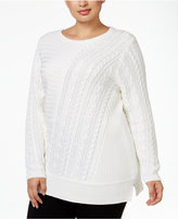 Calvin Klein Plus Size Multi-Stitch Sweater