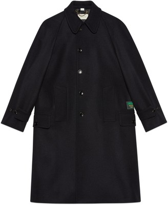 Gucci Wool loden coat with label